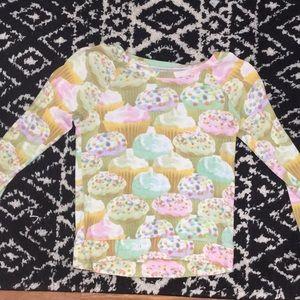 Justice cupcake shirt